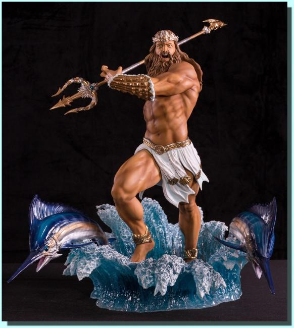Poseidon The god of the Sea Statue
