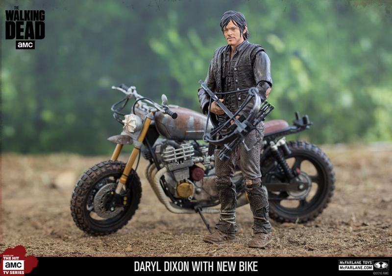Daryl Dixon And Motorbike The Walking Dead Deluxe Statue Set