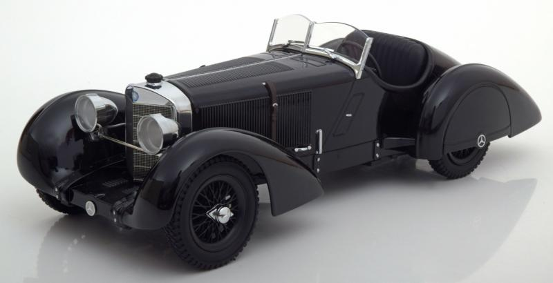 Mercedes Benz 540 SSK Count Trossi Der Schwarze Prinz Black 1/18 Die-Cast Vehicle