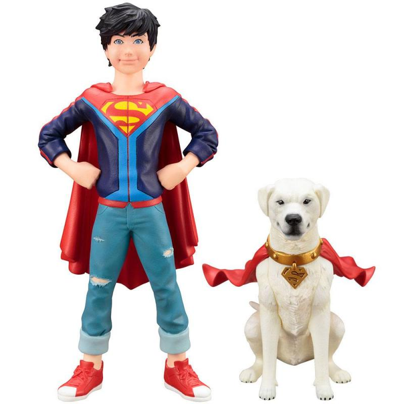 Jonathan Kent And Krypto ARTFX+ Statue Set