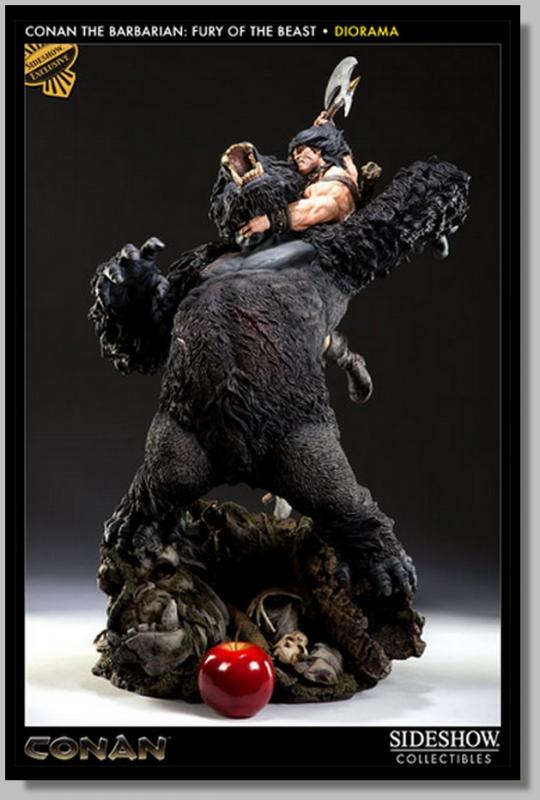 Conan the Barbarian The Fury of the Beast Black Diorama