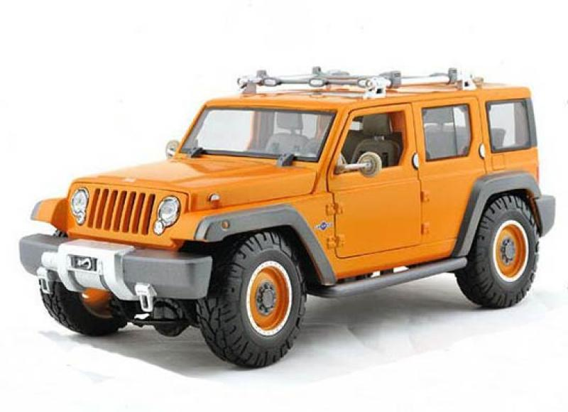 Jeep Rescue Concept Cross-Country Orange 1/18 Die-Cast Vehicle