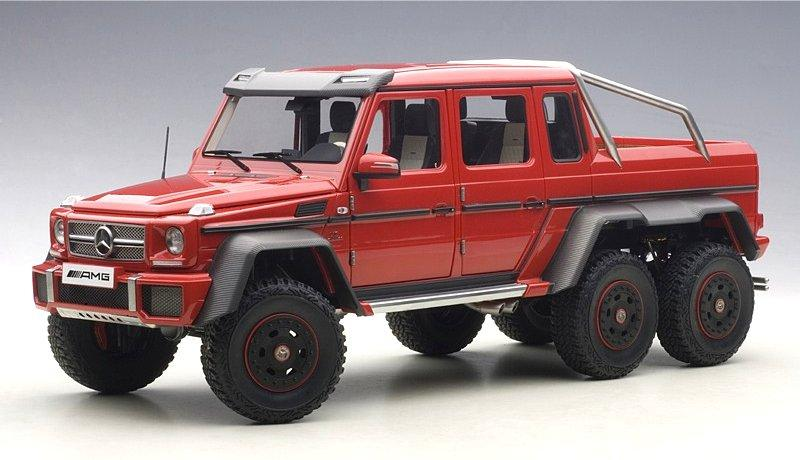 Mercedes Benz G63 AMG 6x6 Off-Road Red 1/18 Die-Cast Vehicle