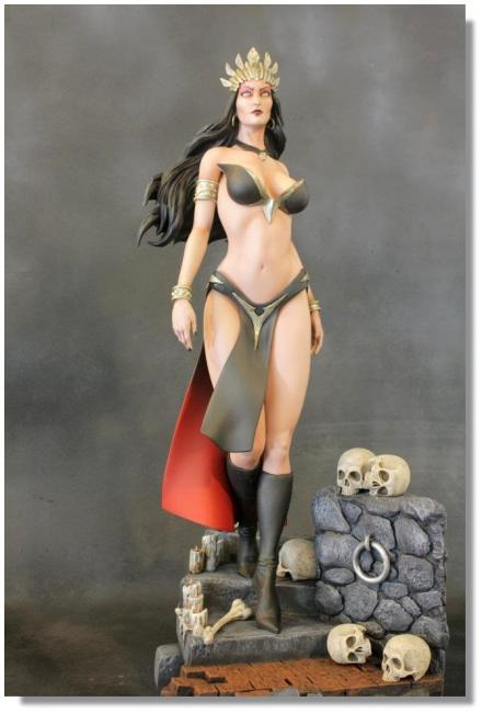 Arkhalla The Queen of Vampires Collectible Statue
