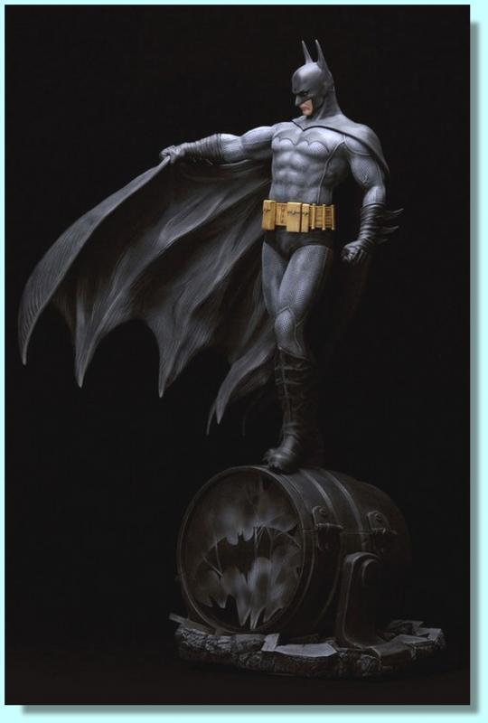 Batman Atop Fuel Tank Luis Royo Fantasy Figure Gallery Statue