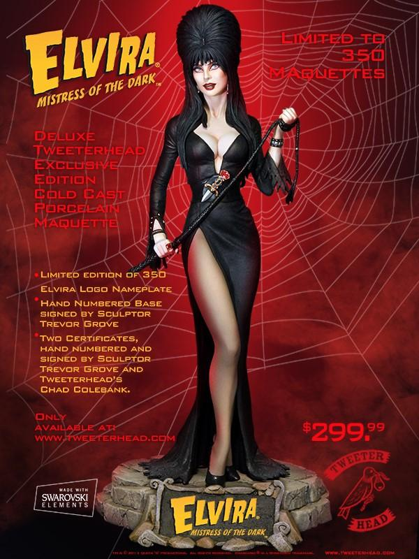 Cassandra Peterson As Elvira The Mistress of the Dark Sixth Scale Maquette Statue