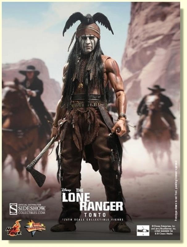 Johnny Depp As The Lone Ranger Tonto Sixth Scale Collectible Figure