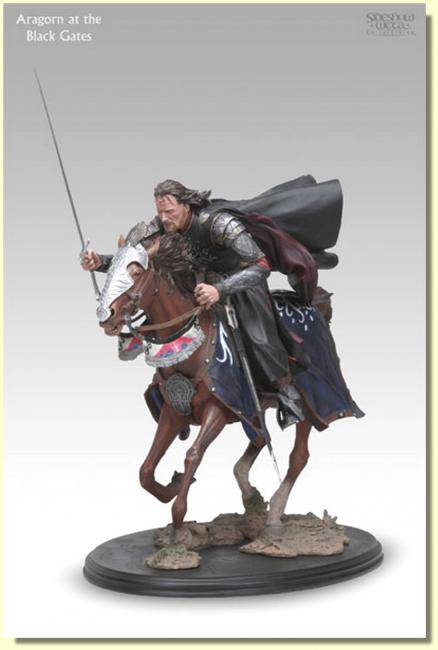 Aragorn on Horseback at the Black Gates Archive Statue