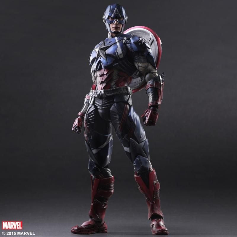 Captain America Play Arts Kai Action Figure