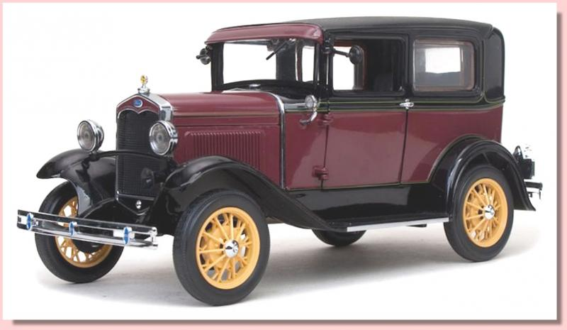 Ford Model A Tudor Red Old-Time Livery 1/18 Die-Cast Vehicle