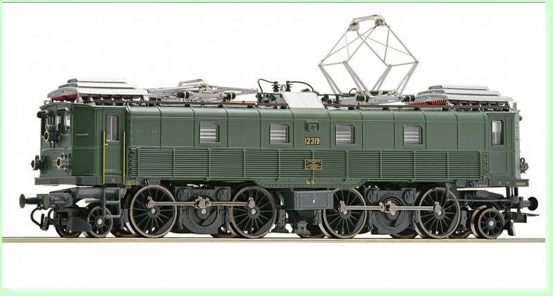 Schweizerische Bundesbahnen SBB/CFF/FFS HO #Green Series Be 4/6 Electric Locomotive