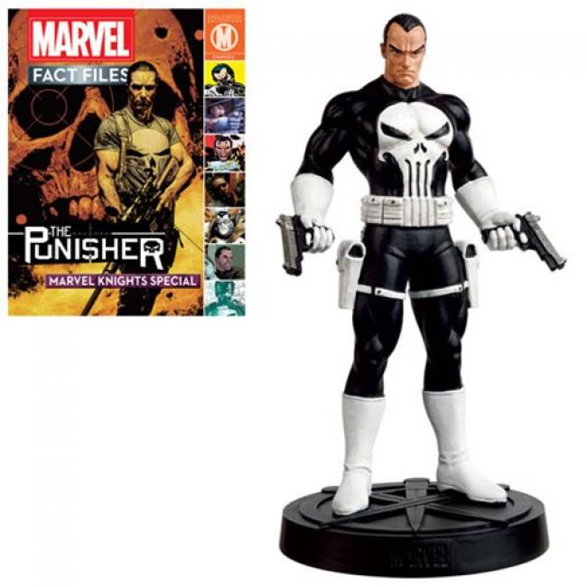 Punisher Statue with Collector Magazine