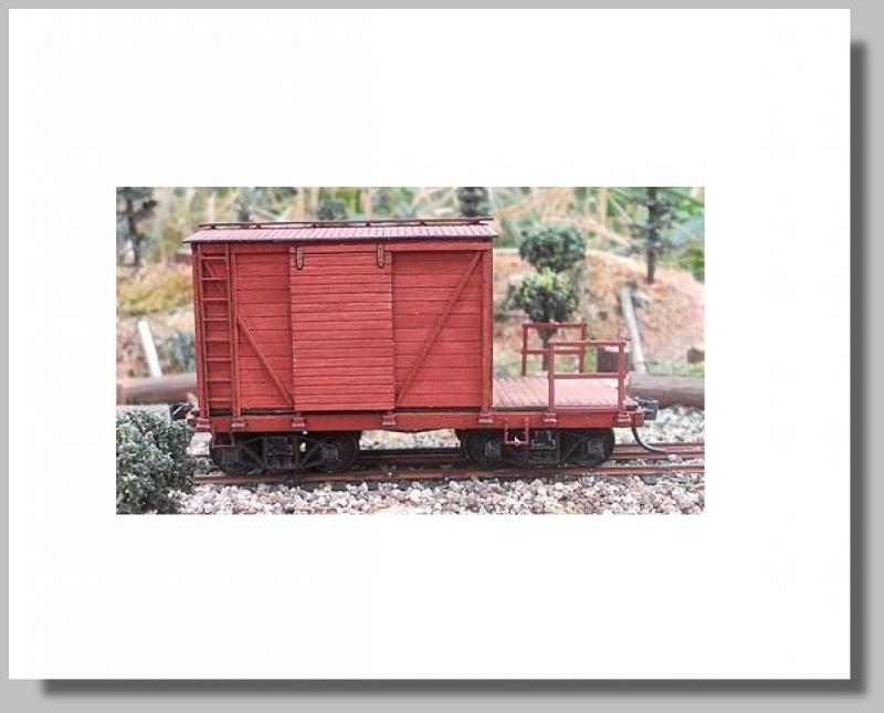 Maintenance Of Way Caboose Kit Freight Car   stavebnice