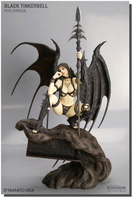 Black Tinkerbell The Fantasy Figure Gallery Luis Royo Statue