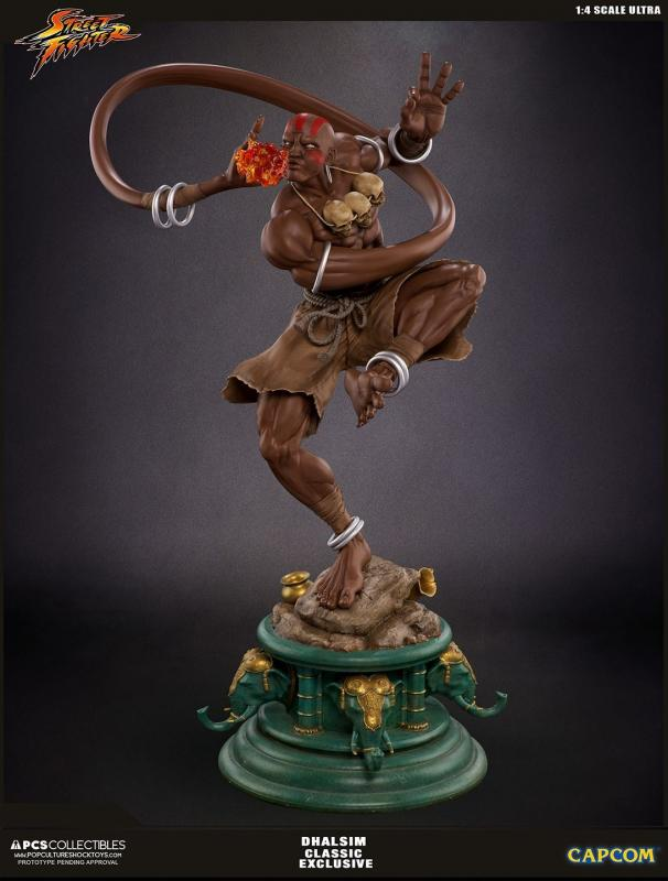 DHALSIM Classic Exclusive Mixed Media Quarter Scale Ultra Statue