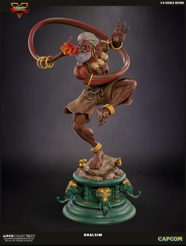 DHALSIM Street Fighter Mixed Media Quarter Scale Ultra Statue