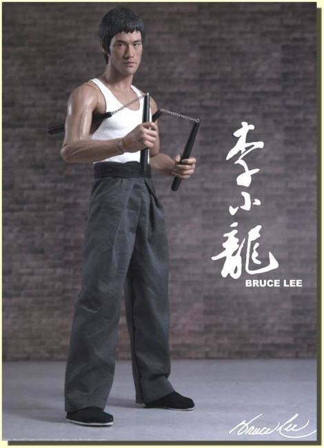 Bruce Lee Kung Fu Chinese Suit Masterpiece Action Figure