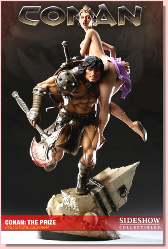 Conan and The Prize Girl Statue Archive Diorama
