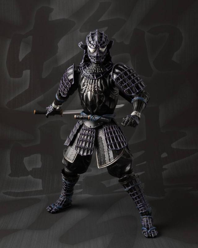 Onmitsu Black Spider-Man Ninja Kaginawa-Style Meisho Action Figure