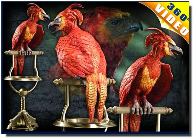 Fawkes The Phoenix Harry Potter Statue