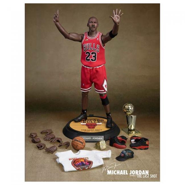 Michael Jordan Red Jersey Last Shot NBA Real Masterpiece Sixth Scale Figure