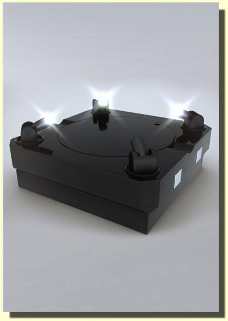 Revolving LED Spotlight Display Stage for 1/6 collectibles