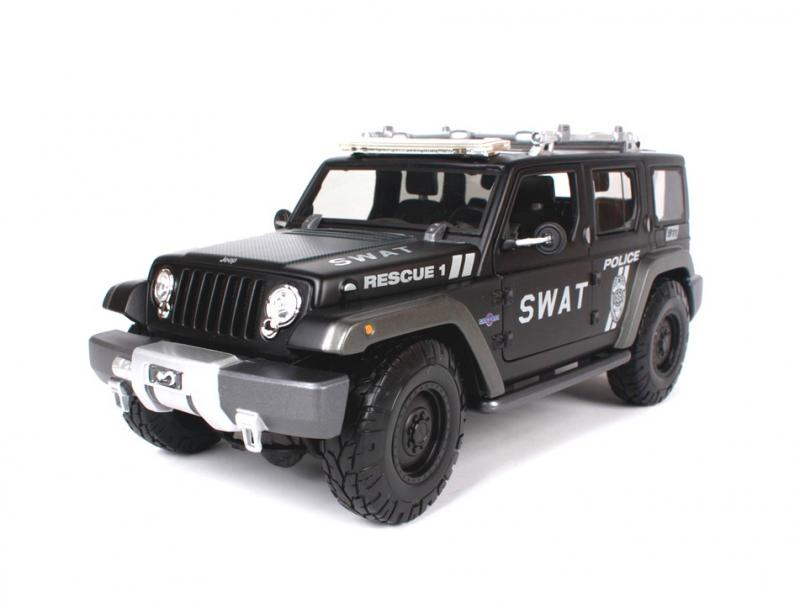 Jeep Cross-country Police Car SWAT Rescue Concept 1/18 Die-Cast Vehicle