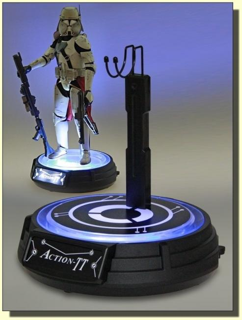 Power Illuminated Turntable Figure Stand for sixth scale collectibles