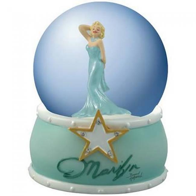 Marilyn Monroe Turquoise Dress Water Globe