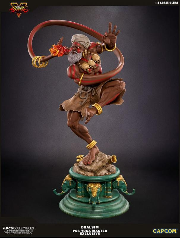 DHALSIM The Yoga Master Deluxe Exclusive Mixed Media Quarter Scale Ultra Statue