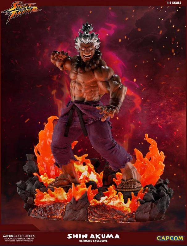Shin Akuma Street Fighter Mixed Media Quarter Scale Ultimate Exclusive Statue
