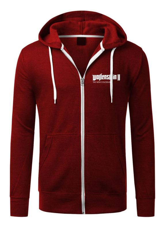 Wolfenstein II Hooded Sweater Patch mikina se zipem a kapucí
