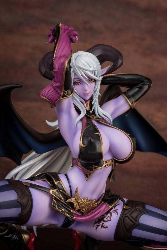 Muma Astacia Succubus The Crouching Demon Lady Blue Skin Sexy Anime Figure