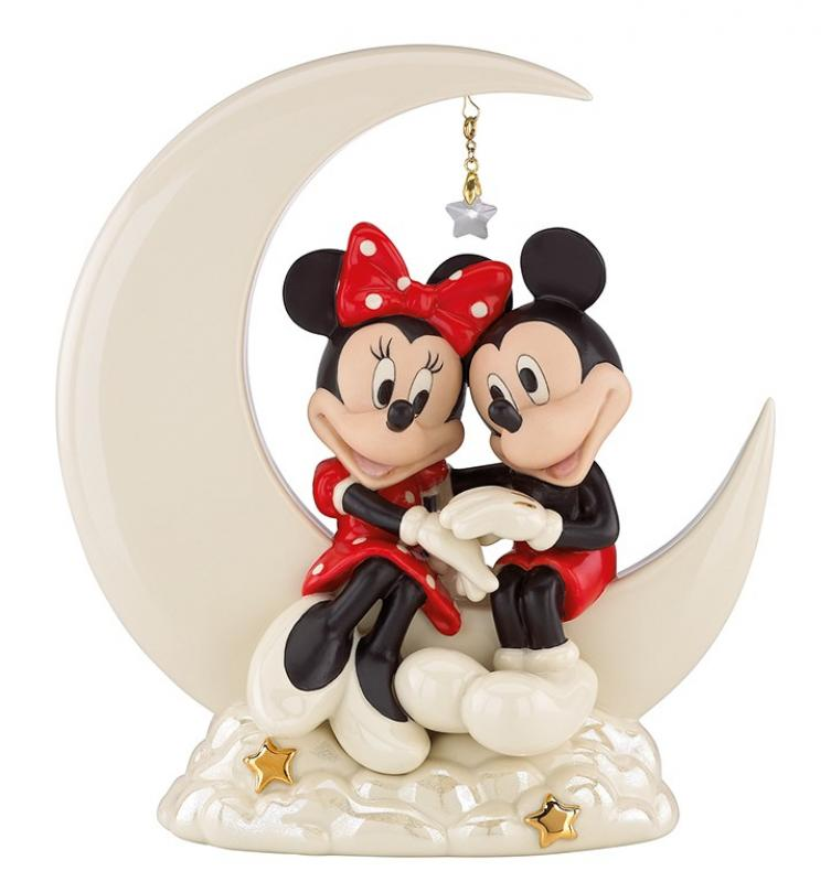 Mickey Mouse Over the Moon for Minnie Statue Diorama