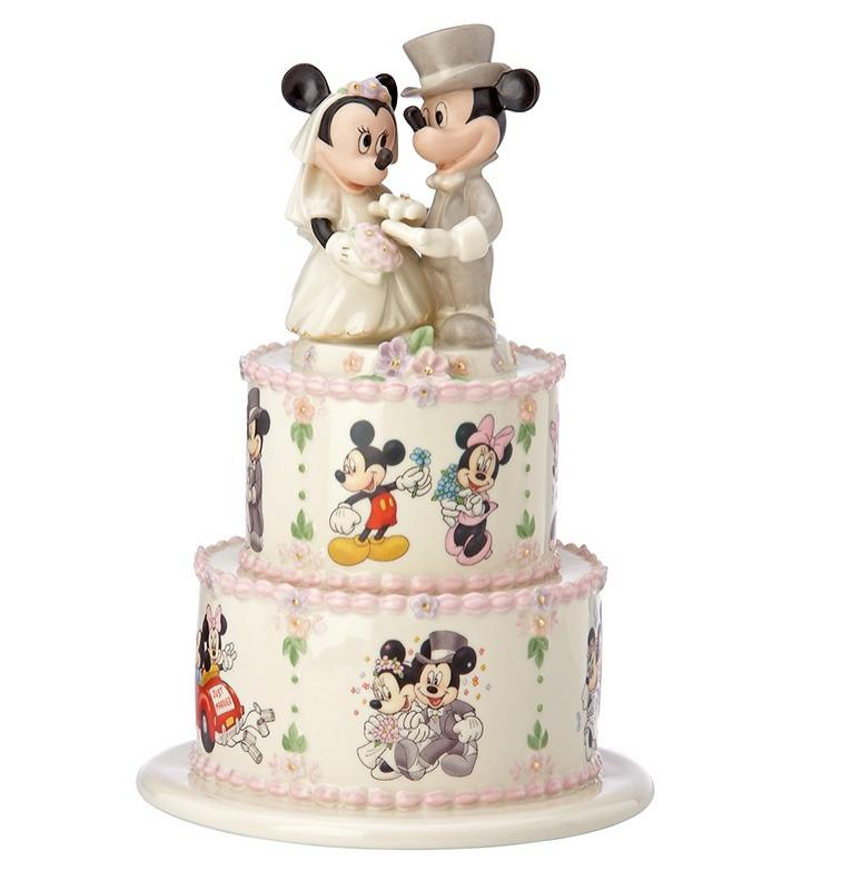 Mickey & Minnie Atop Wedding Cake Statue Diorama
