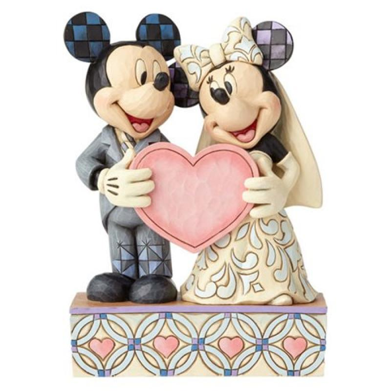 Mickey & Minnie The Doting Bride And Groom Statue Diorama