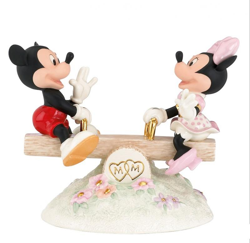 Mickey & Minnie The Seesaw Ride Statue Diorama