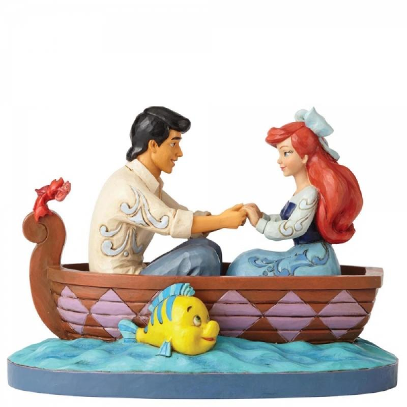 Ariel & Prince Eric On The Boat Statue Diorama