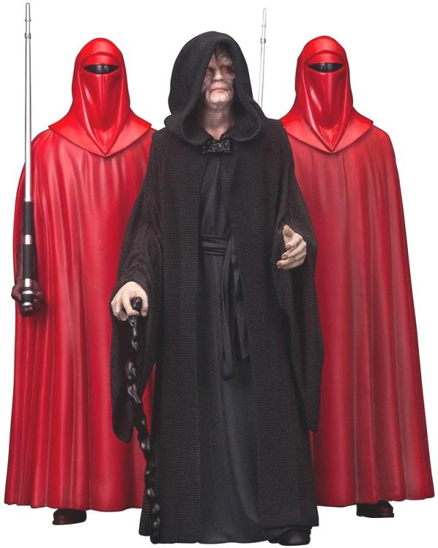 Emperor Palpatine & The Royal Guards Star Wars ARTFX+ 1/10 Statue Set   Hvězdné války