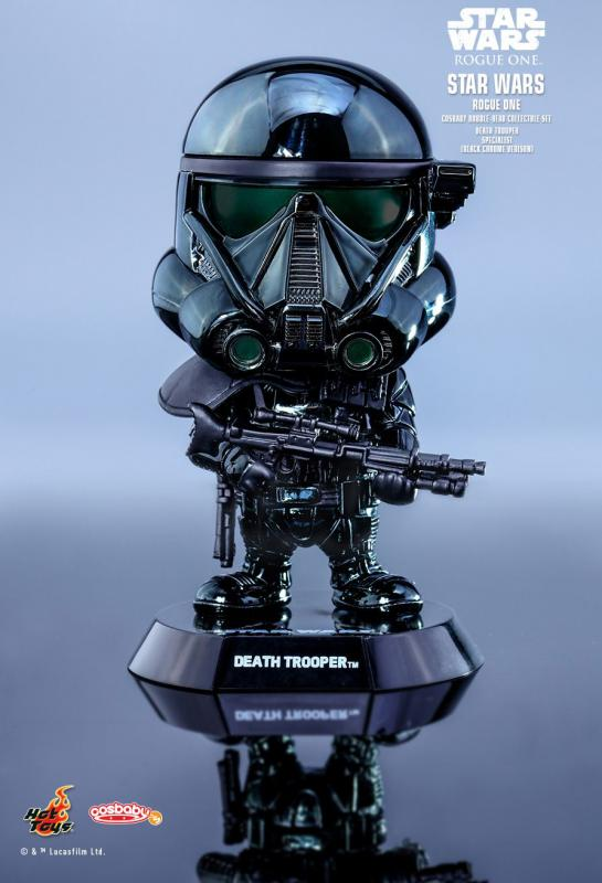 Death Trooper Specialist Metallic Black Chrome Star Wars Cosbaby Bobble-Head   Hvězdné války