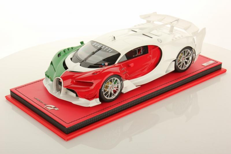 Bugatti Vision Gran Turismo Tricolore Italiano 1/18 Die-Cast Vehicle