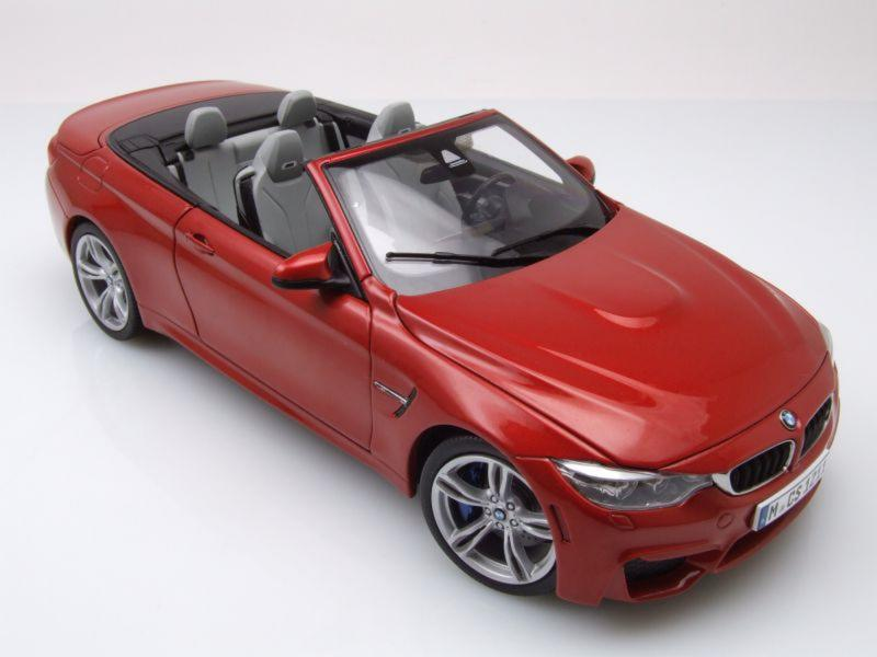 bmw m4 cabrio f33 2014 red metallic 1 18 die cast vehicle. Black Bedroom Furniture Sets. Home Design Ideas