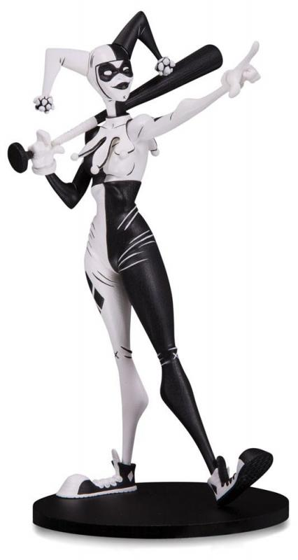 Harley Quinn Hainanu Nooligan Saulque DC Artists Alley Black & White Statue