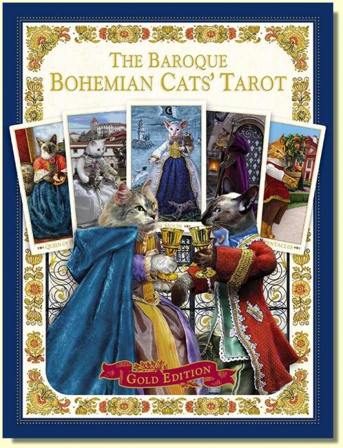 Baroque Bohemian Cats Tarot  (80 karet)  Gold limited edition