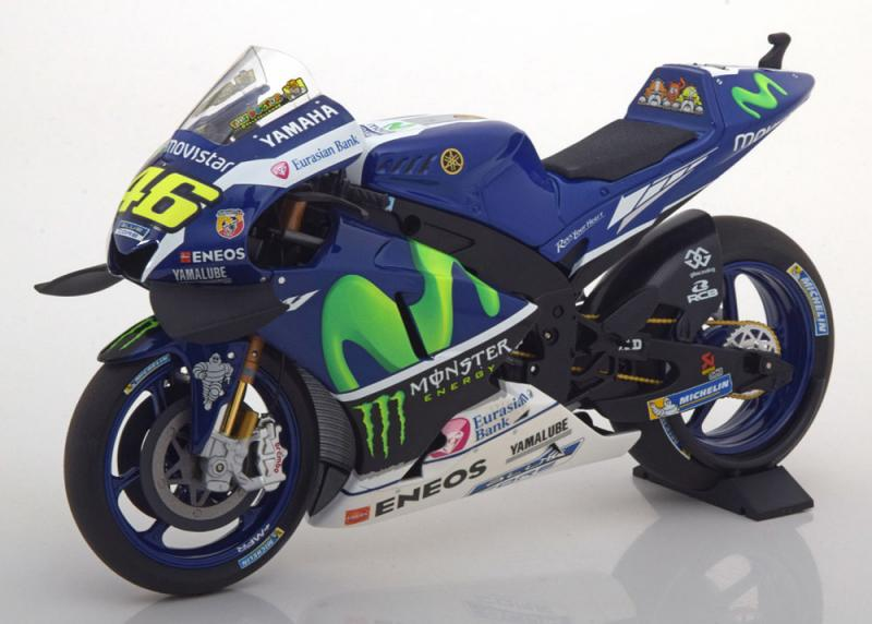 Yamaha YZR-M1 No. 46 Moto GP 2016 Racing Livery 1/12 Motorcycle Vehicle