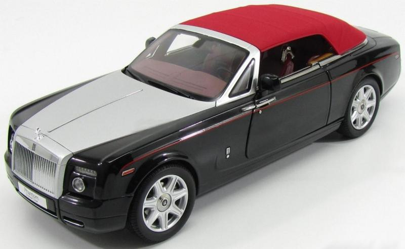 Rolls Royce Phantom Drophead Coupé Series II  2013 Diamond Black Red 1/18 Die-Cast Vehicle