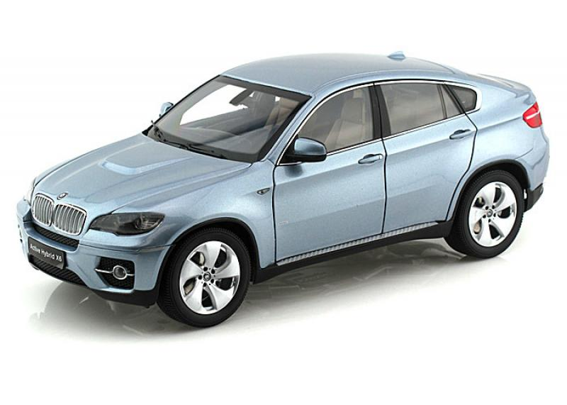 BMW X6 (E71) ActiveHybrid Blue Water Metallic 1/18 Die-Cast Vehicle
