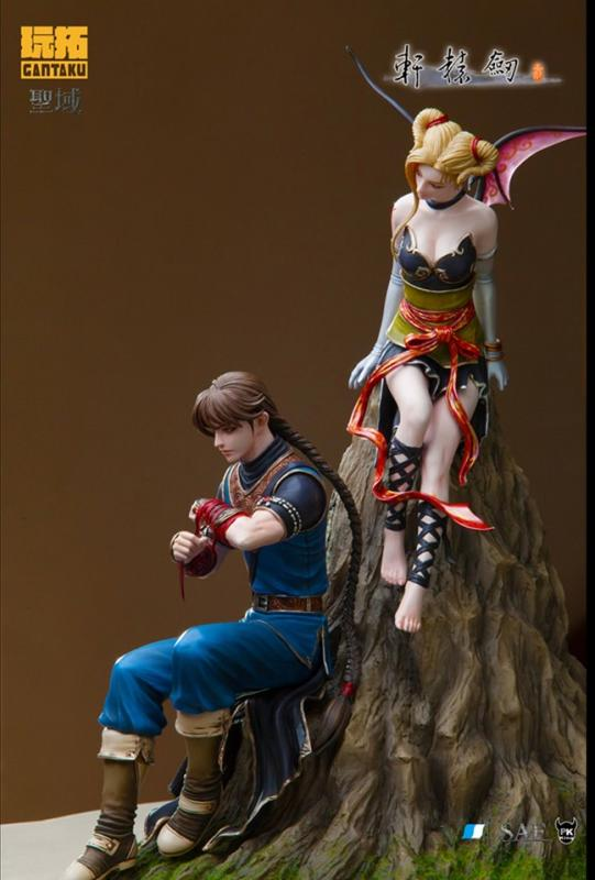 Septem and Nicole The Actress Other Side of Cloud and Hill Statue Diorama