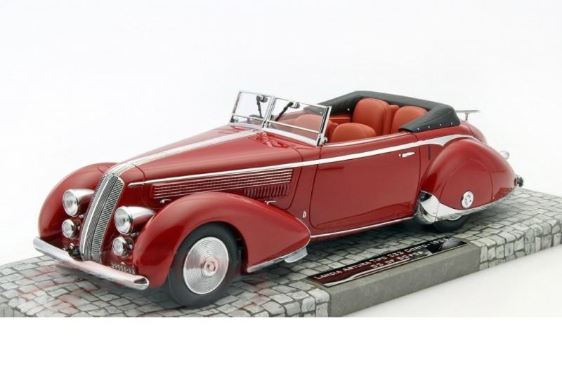 Lancia Astura Tipo 233 Corto Cabriolet Red 1/18 Die-Cast Vehicle