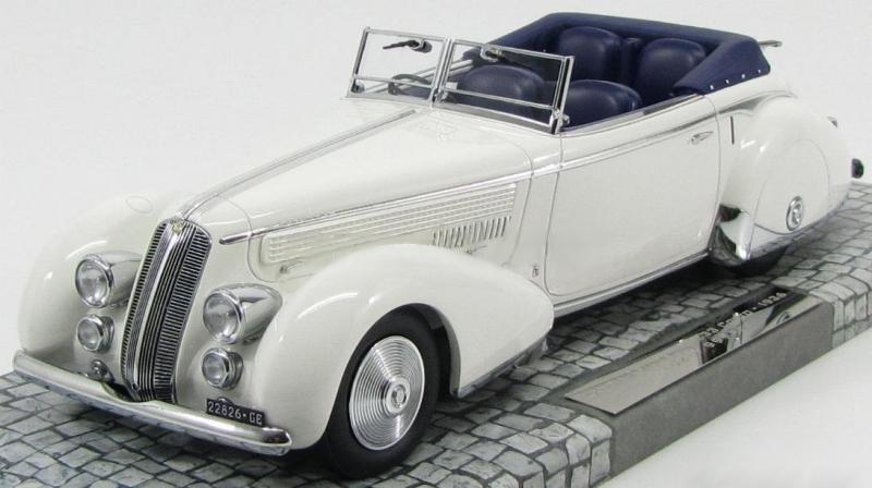 Lancia Astura Tipo 233 Corto Cabriolet White 1/18 Die-Cast Vehicle